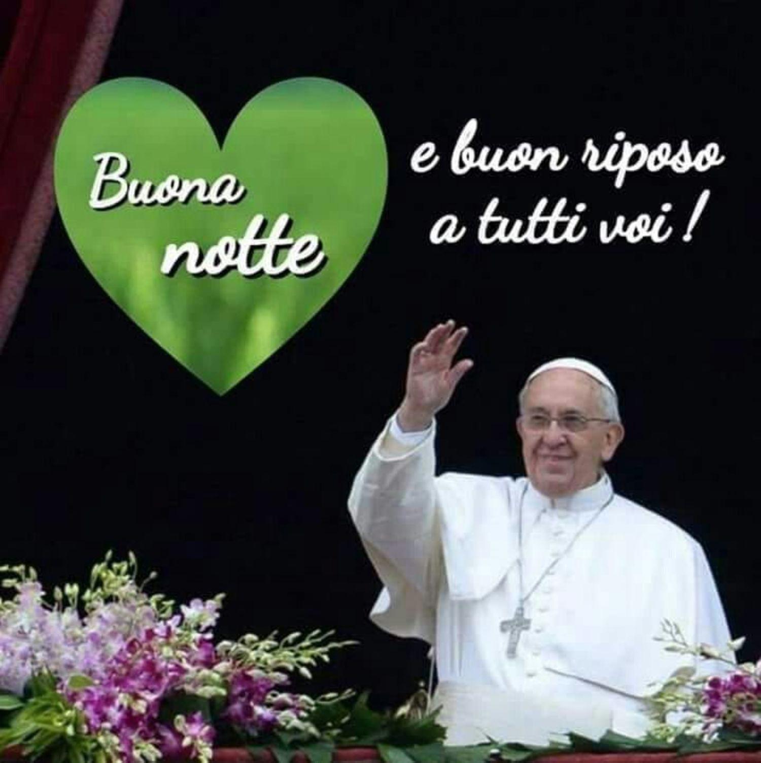Frasi Di Buonanotte Papa.Buonanotte Immagini Dal Papa Francesco Buongiornocongesu It