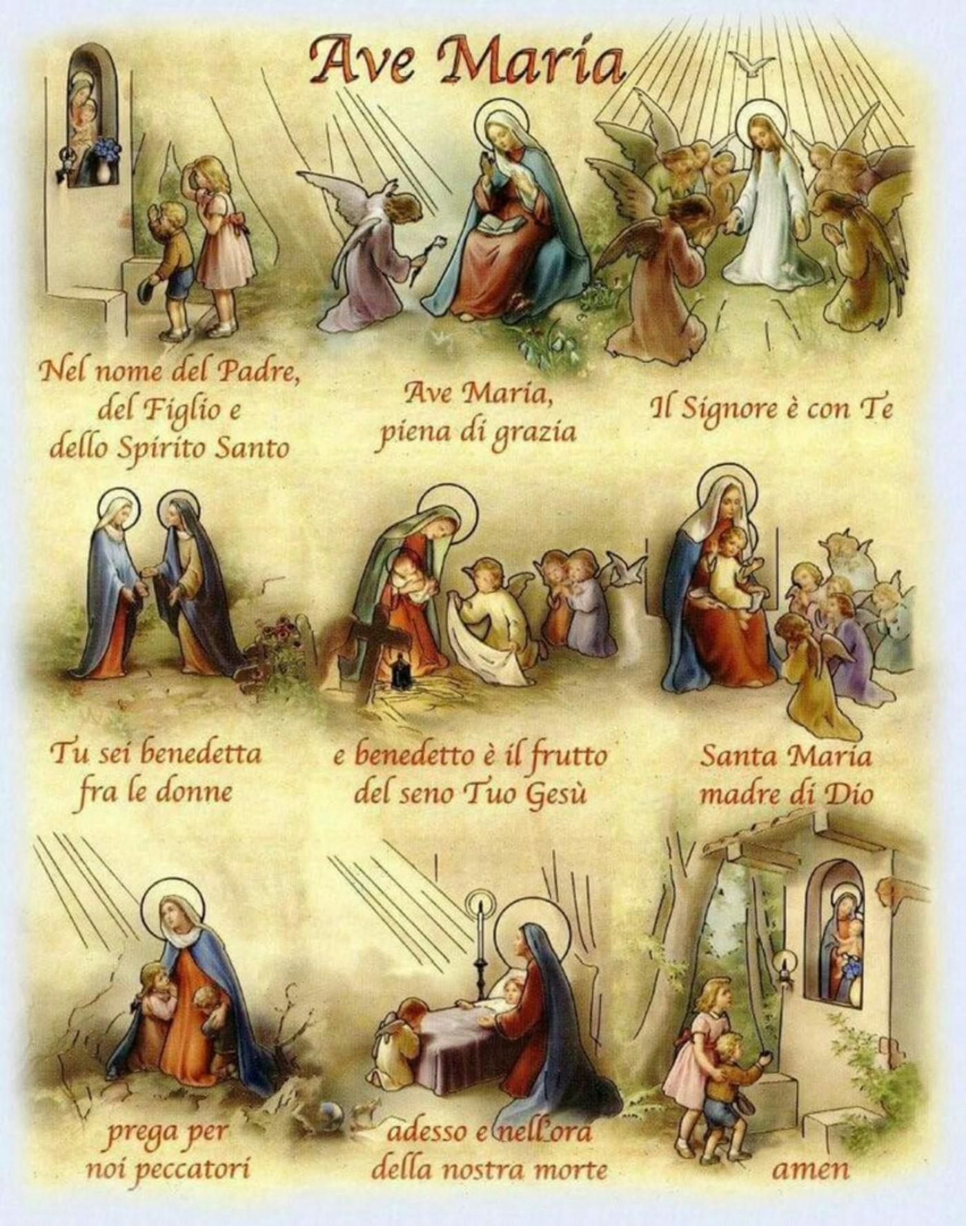 Ave Maria preghiere per bambini