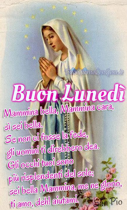 Buon Lunedì Con La Madonna Buongiorno Immagini