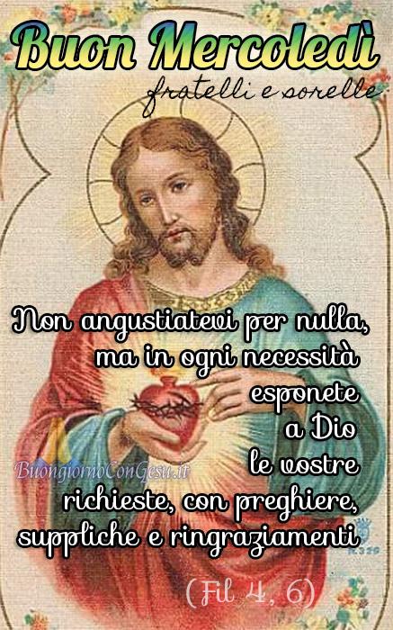 Buon Mercoledì con Gesù immagini nuove