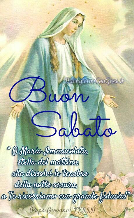 Buon Sabato con la Madonna