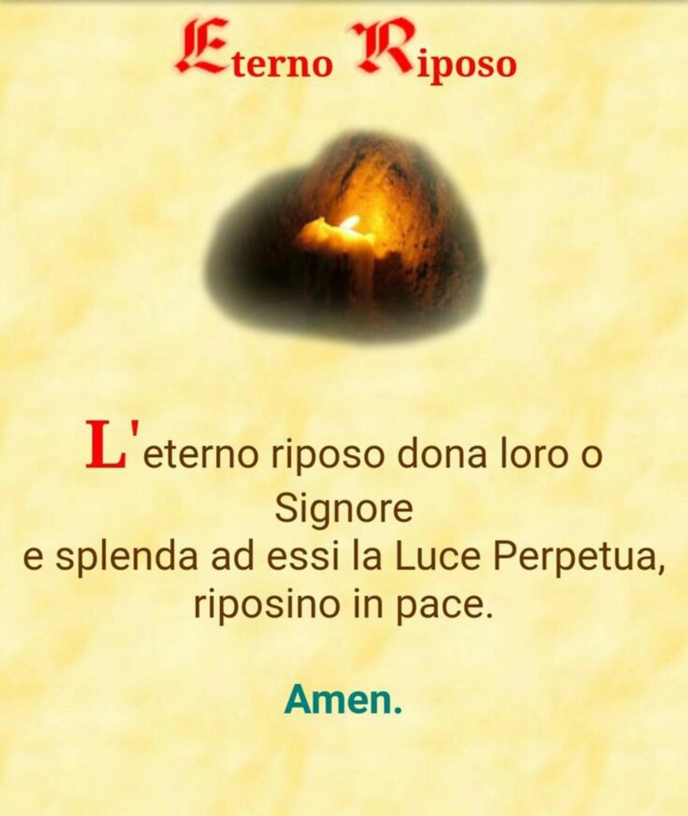 Eterno Riposo preghiere defunti