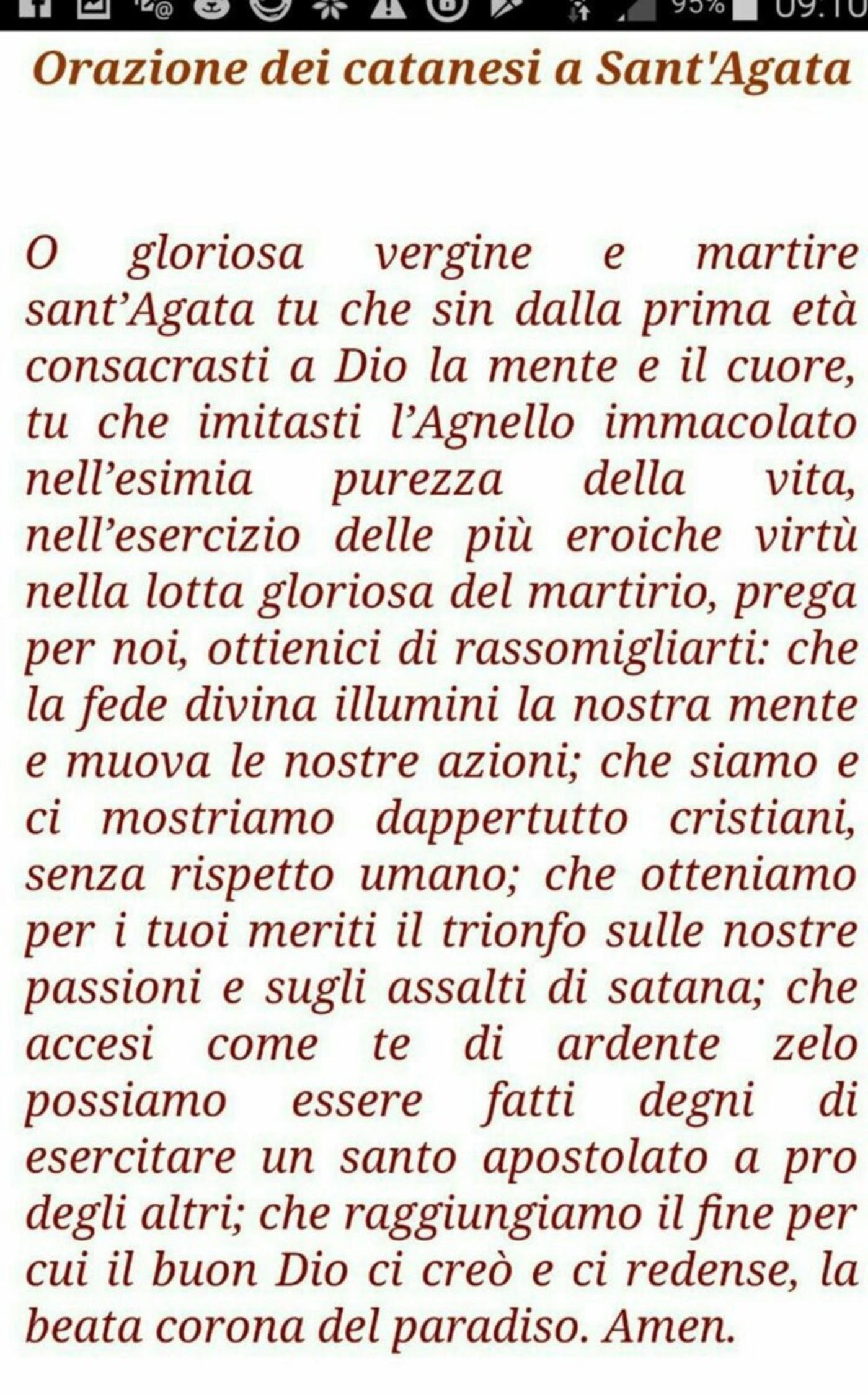 Orazione dei catanesi a Sant'Agata
