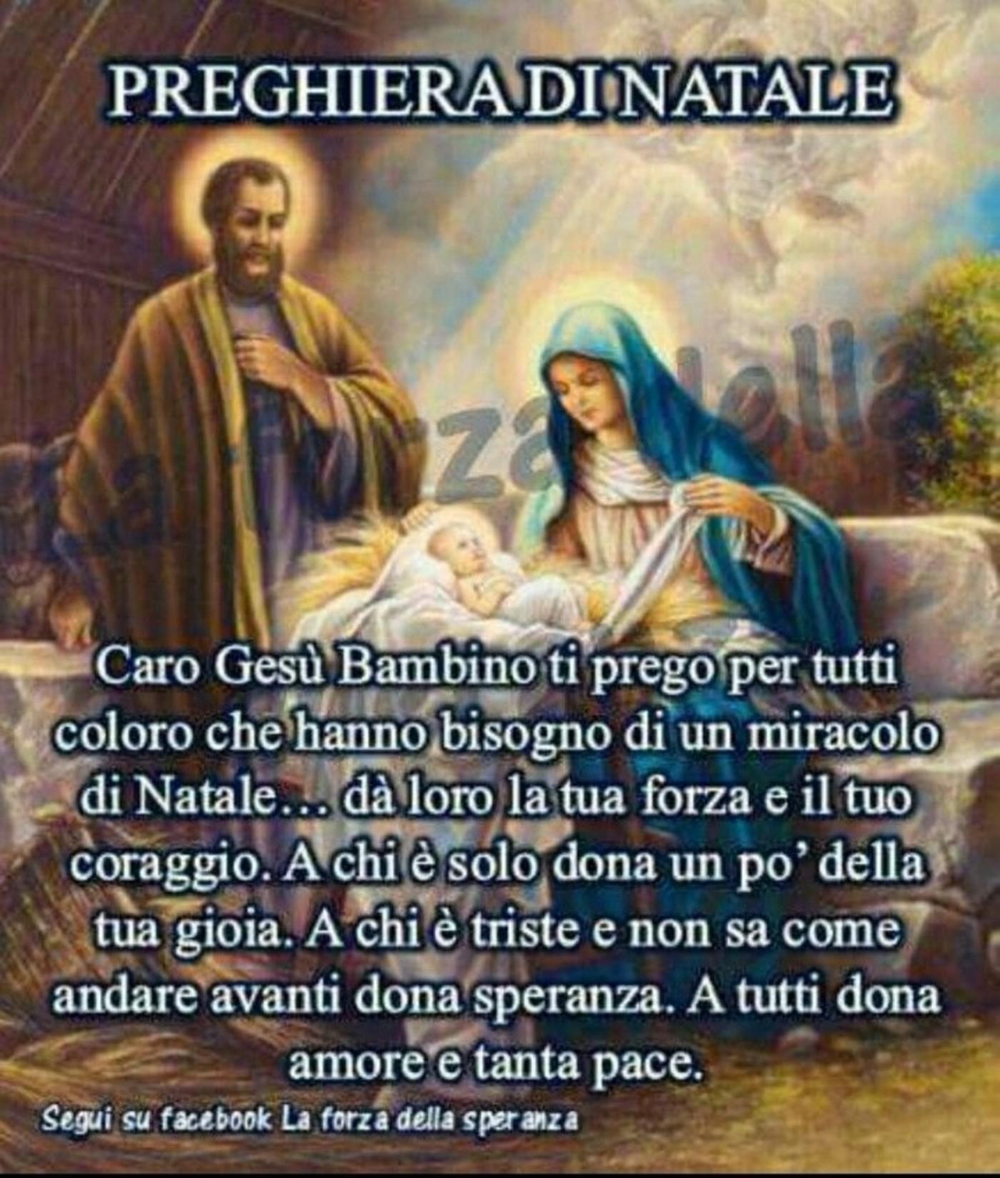 Preghiera Di Natale Buongiornocongesu It