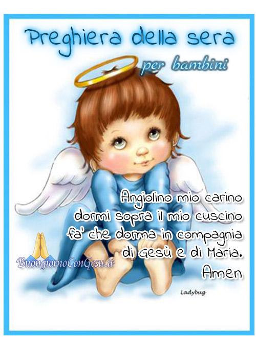 Preghiera per la sera per bambini