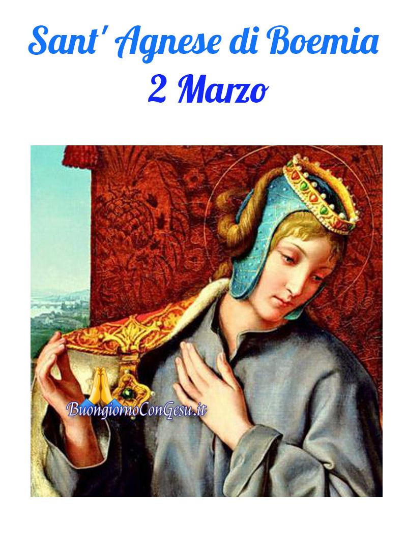 Sant' Agnese di Boemia 2 Marzo immagini Santi e Beati