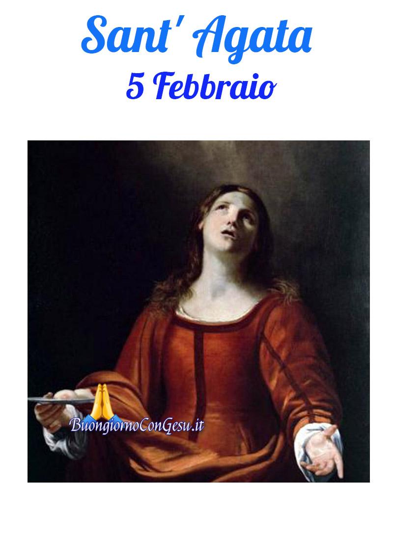 Sant'Agata 5 Febbraio immagini sacre