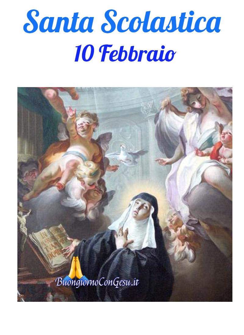 Santa Scolastica 10 Febbraio immagini bellissime